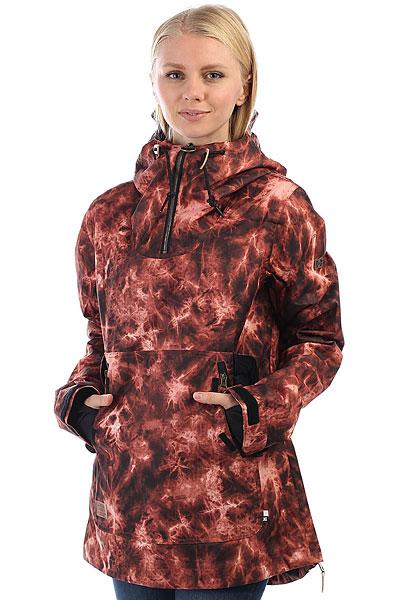Анорак сноубордический женский DC Skyline Burnt Henna Tie DyeСноубордическая куртка DC Skyline станет Вашим отличным спутником на любом рельефе - водостойкая верхняя ткань 10K DC WEATHER DEFENSE в сочетании с утеплителем и удобными эластичными манжетами защитит Вас от холода в самые морозные дни. Внутренний медиа-карман позволит наслаждаться любимой музыкой, когда Вы пожелаете. Дизайн в стиле милитари.Характеристики:Влагостойкая ткань10K DC WEATHER DEFENSE (10 000 мм / 10 000 г). Утеплитель: туловище - 80 г, рукава - 40 г. Подкладкаиз тафты.Полностью проклеенные швы. Вентиляция подмышками. Теплые карманы для рук. Внутренний медиа-карман. Карман в рукаве на молнии для ски-пасса. Эластичные манжеты на липучках. Регулируемый капюшон с козырьком.<br><br>Цвет: коричневый<br>Тип: Анорак сноубордический<br>Возраст: Взрослый<br>Пол: Женский