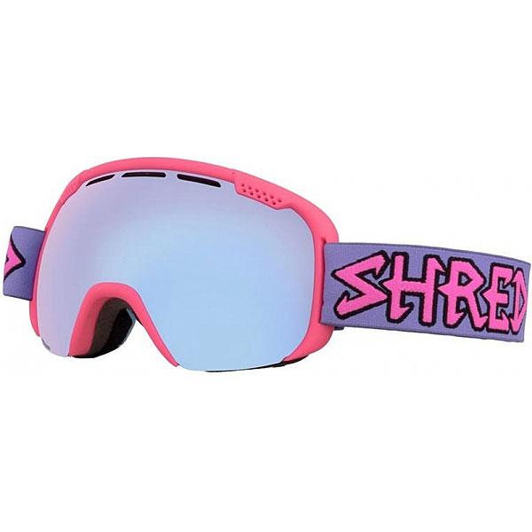 Маска для сноуборда Shred Smartefy Air Pink FrozenБольшая маска с широким обзором и тонкой оправой. Сферическая линза подчеркивает дизайн и дает отличную передачу контраста и четкости - во многом за счет новой патентованной системы NODISTORTION от SHRED. Яркий дизайн и хай тек технологии. Комплектуется светлой линзой LITE SMOKE FROZEN REFLECT 1-ой категории светопропускания.Характеристики:Патентованная система NODISTORTION выравнивает давление между линзами и предотвращает искривление линз на высоте. Новая технология NoClog: периферическая вентиляция маски обработана гидрофобным составом, не дающим тающему снегу и воде закупорить вентиляционные отверстия 100% эффективное противодействие запотеванию. Обработка линз изнутри гидрофобным составом AntiFog. Двойной поликарбонатный преформированный линзовый блок. 100% защита от ультрафиолета. Очень широкое поле видения. Система замены линз NOBS. Мягкий 3х слойный уплотнитель. Силиконовая полоса на лямке для крепления на шлем. Совместима со шлемами различной конструкции. Подходит для среднего размера лица.<br><br>Цвет: розовый<br>Тип: Маска для сноуборда<br>Возраст: Взрослый<br>Пол: Мужской