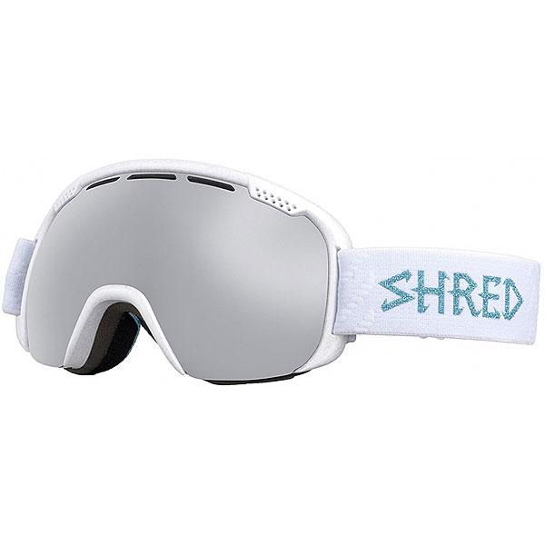 Маска для сноуборда Shred Smartefy Glitter White<br><br>Цвет: белый<br>Тип: Маска для сноуборда<br>Возраст: Взрослый<br>Пол: Мужской