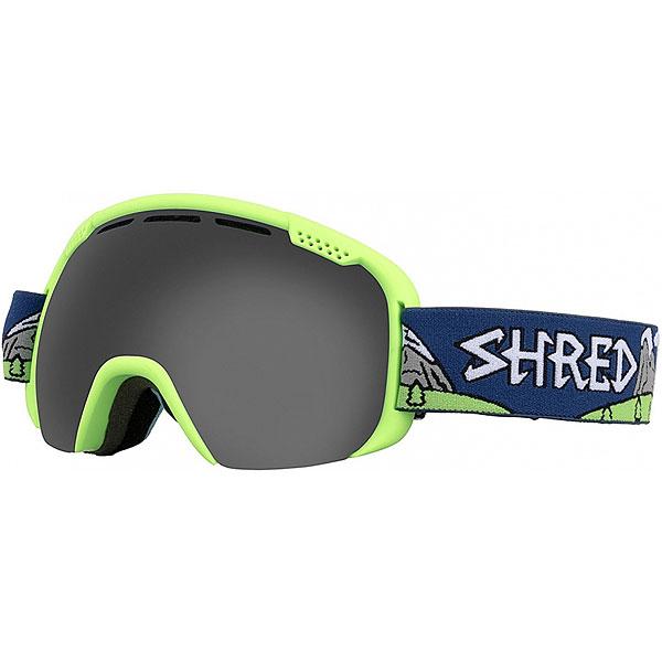 Маска для сноуборда Shred Smartefy Stealth Neon Green маска для сноуборда dragon mdx nerve green ionized clear aft