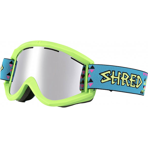 Маска для сноуборда Shred Soaza Tritris Platinum Neon Green