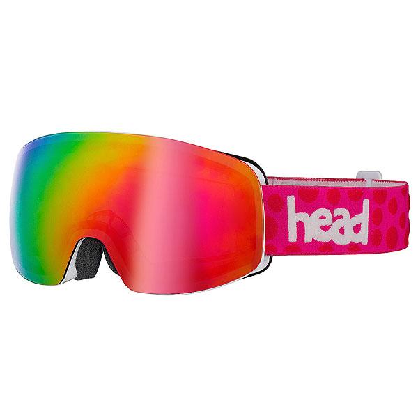 Маска для сноуборда женская Head Galactic White/PinkМаска HEAD GALACTIC.Универсальная маска для любых погодных условий.Характеристики:Большое поле обзора, большая сферическая линза. При необходимости линзу можно быстро заменить - в комплекте поставляется дополнительный светофильтр. Прессованный преформованный поликарбонатный двойной линзовый блок. Зеркальная поверхность линзы Flash Mirror.Внутренняя поверхность обработана слоем анитифога предотвращающим запотевание. Защита UV 400. 3-х слойный уплотнитель. Совместимость со шлемом.Полоска силикона на стрепе для фиксации на шлеме. Плотный упаковочный чехол в комплекте.<br><br>Цвет: мультиколор<br>Тип: Маска для сноуборда<br>Возраст: Взрослый<br>Пол: Женский