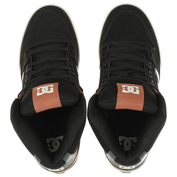 Кеды кроссовки высокие DC Spartan High Wc Black/Tan