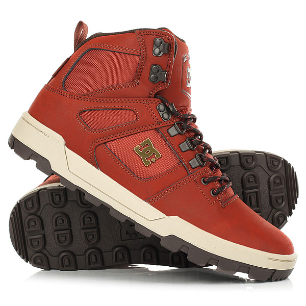Ботинки зимние DC Spartan High Wr Boot Burnt Henna/White dc shoes ботинки dc shoes spartan high boot wheat dk chocolate fw17 9