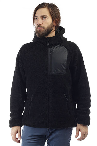 Толстовка классическая Nike Everett FZ Sherpa Hoodie Black<br><br>Цвет: черный<br>Тип: Толстовка классическая<br>Возраст: Взрослый<br>Пол: Мужской