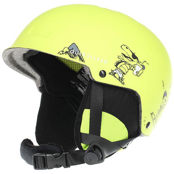 Шлем для сноуборда детский Quiksilver Empire Sulphur Spring<br><br>Цвет: черный,желтый<br>Тип: Шлем для сноуборда<br>Возраст: Детский