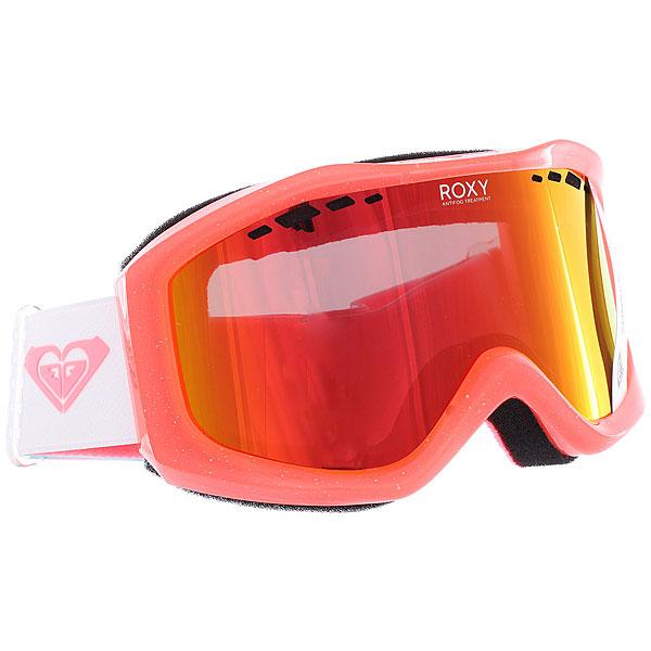 купить Маска для сноуборда женская Roxy Sunset Pack Neon Grapefruit sola по цене 5149 рублей