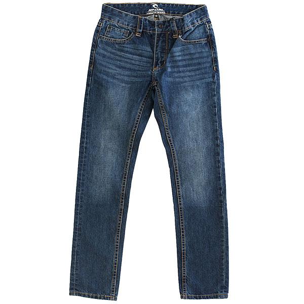Джинсы прямые детские Rip Curl Basic Denim Boy Vintage Wash<br><br>Цвет: синий<br>Тип: Джинсы прямые<br>Возраст: Детский