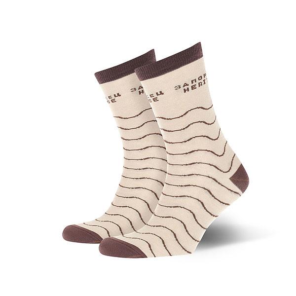Носки средние Запорожец Волны Бежевые<br><br>Цвет: бежевый,коричневый<br>Тип: Носки средние<br>Возраст: Взрослый<br>Пол: Мужской