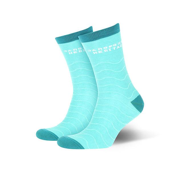 Носки средние Запорожец Волны Светло-зеленые<br><br>Цвет: голубой<br>Тип: Носки средние<br>Возраст: Взрослый<br>Пол: Мужской