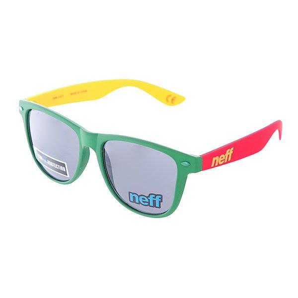 Очки Neff Daily Shades Rasta100% пластиковая оправа с акриловыми линзами<br><br>Цвет: желтый,зеленый,красный<br>Тип: Очки<br>Возраст: Взрослый<br>Пол: Мужской