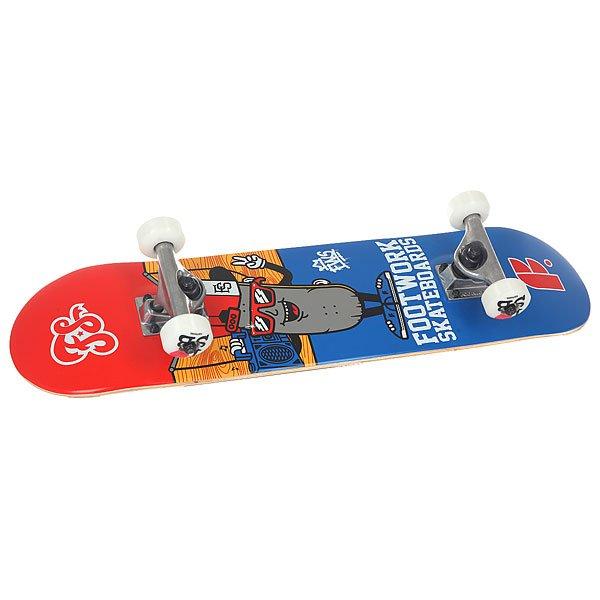 Скейтборд в сборе детский Footwork Decky Micro Red/Blue 27.75 x 6.75 (17.1 см)Все что нужно маленькому скейтеру! Длина и ширина доски специально уменьшены под маленькую ростовку.Характеристики:Доска Footwork Rocky 27.75 x 7.75.Подойдет под рост ребенка до 110 см.Подвески Footwork.Колеса I Love Sb 52mm.Подшипники ABEC5.<br><br>Цвет: красный,синий<br>Тип: Скейтборд в сборе детский<br>Возраст: Детский