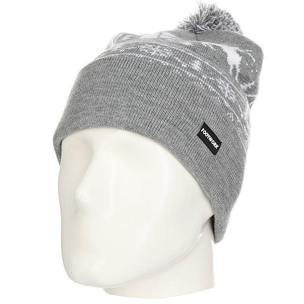Шапка Footwork Pom-Pon Xmas Hat Light Gray Melange<br><br>Цвет: серый,белый<br>Тип: Шапка<br>Возраст: Взрослый<br>Пол: Мужской