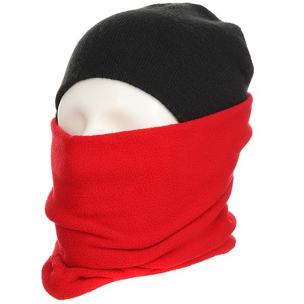 Шарф труба Footwork Hoop Neckwarmer Red/White Melange шарфы j ploenes шарф