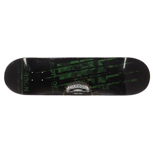 Дека для скейтборда для скейтборда Footwork Carbon Team Edition Camo GreenШирина деки: 8 (20.3 см)    Длина деки: 31.6 (80.3 см)    Количество слоев: 7Ширина деки: 8.25 (21 см)   Длина деки: 32.5 (82.6 см)    Количество слоев: 7Ширина деки: 8.5 (21.6 см)    Длина деки: 32.2 (81.8 см)    Количество слоев: 7Carbon PRO - это семь слоёв канадского клена с добавлением слоя из углеродного волокна. У этой доски мощнейший щелчок и её не так-то просто сломать!Технические характеристики: Длина - 80,3 см, ширина - 20,3 см.7 слоев канадского клёна и 1 слой углеродного волокна.Средний конкейв.Клеевой состав SLP Resin.<br><br>Цвет: черный,зеленый<br>Тип: Дека для скейтборда<br>Возраст: Взрослый<br>Пол: Мужской