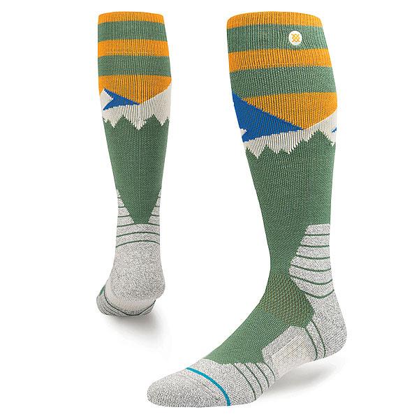 Носки высокие Stance Snow Long Way Green<br><br>Цвет: мультиколор<br>Тип: Носки высокие<br>Возраст: Взрослый<br>Пол: Мужской