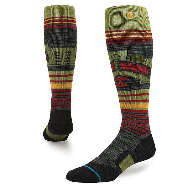 Носки высокие Stance Snow Smoke Shack Olive носки nike носки nike running dri fit cushion d
