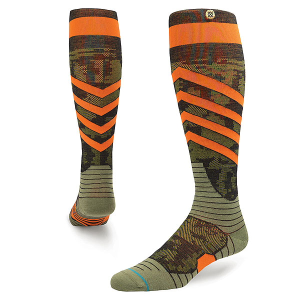 Носки высокие Stance Snow Spec Orange носки nike носки nike running dri fit cushion d