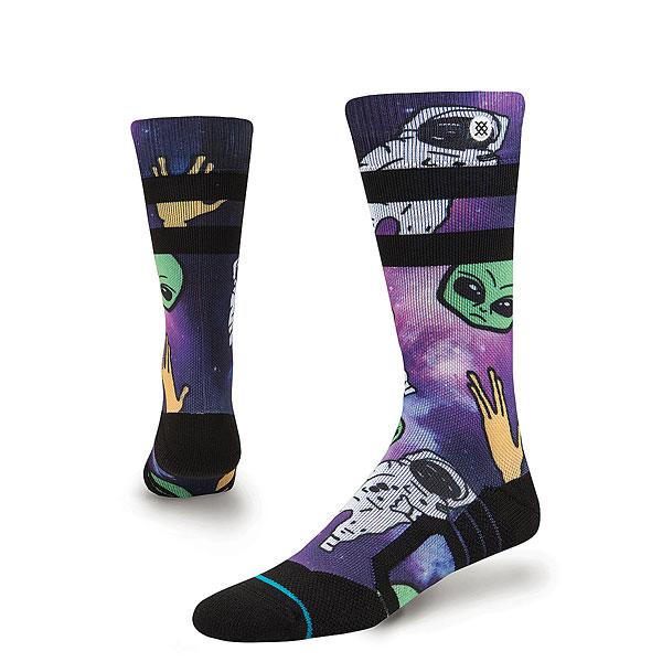 Носки высокие Stance Snow Space Out Kids Purple<br><br>Цвет: мультиколор<br>Тип: Носки высокие<br>Возраст: Детский