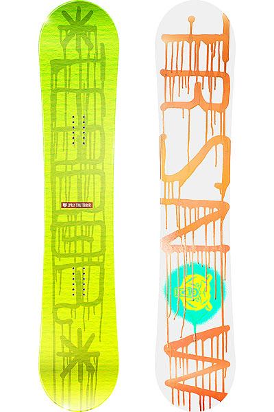 Сноуборд Terror Snow Spray YellowСноуборд Spray создан командой Terror для неутомимых райдеров, которые постоянно находятся в поиске новых спотов с жесткими условиями катания, там где ошибки уже непростительны. Трудовые будни сноубордиста сможет облегчить TRSNOW - SPRAY нанося разгромы спотам и сноу-паркам. Прогиб Reverse Camber в комбинации с мягкостью позволяет уверенно давить прессы, а спеченный неубиваемый скользяк будет служить очень долго.Характеристики:Форма Twin-Tip: симметричная геометрия доски, позволяющая кататься как в своей стойке, так и в свиче. Прогиб Reverse Camber: обратный прогиб облегчит работу над стильными прессами. Облегченный сердечник из высококачественного тополя. Верх: ламинированная поверхность с защитой от ультрафиолета. Спеченный скользяк Sintered Base: отлично впитывает парафин, менее подвержен повреждениям и быстро разгоняется.<br><br>Цвет: желтый<br>Тип: Сноуборд<br>Возраст: Взрослый<br>Пол: Мужской