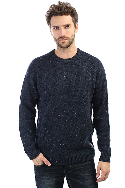 Свитер Carhartt WIP Anglistic Sweater Navy Heather футболка женская carhartt wip carrie yale ash heather