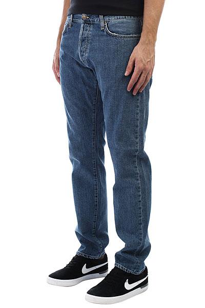Джинсы прямые Carhartt WIP Klondike Pant Blue(Stone Washed) джинсы узкие dc washed slim jea pant light stone
