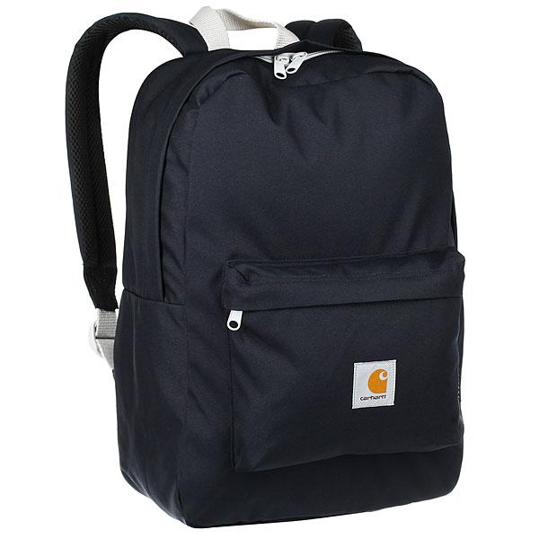 Рюкзак Carhartt WIP Watch Backpack Dark Navy / CinderПрактичный рюкзак из водоотталкивающей ткани для хранения всех необходимых вещей.Технические характеристики: Водоотталкивающая ткань CORDURA©.Без подкладки.Основное отделение на молнии.Большой передний карман на молнии.Мягкая спинка и плечевые ремни из сетки.Внутренний карман.<br><br>Цвет: синий<br>Тип: Рюкзак<br>Возраст: Взрослый