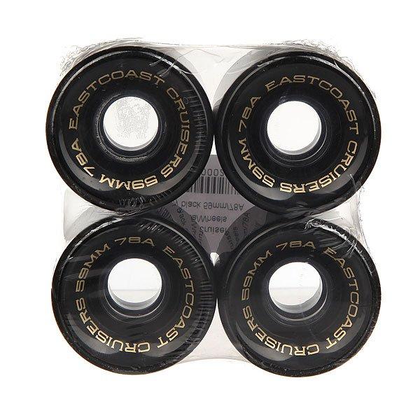 Колеса для скейтборда для лонгборда Eastcoast Shelby Black 78A 59 mm колеса для скейтборда для лонгборда eastcoast shelby white 78a 65 mm