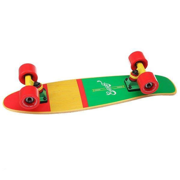 Скейт мини круизер Eastcoast Shelby Rasta 6.25 x 23 (58.4 см)Всеми любимая форма мини круизера из канадского клена. Стильный, легкий, маневренный и устойчивый. Ни что не сможет заменить настоящие ощущения деревянного скейтборда под ногами!Технические характеристики: Длина - 58,4 см, ширина - 16 см.7 слоев канадского клена.Плоский конкейв с киктейлом.Подвески Footwork.Колеса Eastcoast 59 мм 78 А.Подшипники Abec 7.Прозрачная шкурка.<br><br>Цвет: желтый,зеленый,красный<br>Тип: Скейт мини круизер<br>Возраст: Взрослый<br>Пол: Мужской