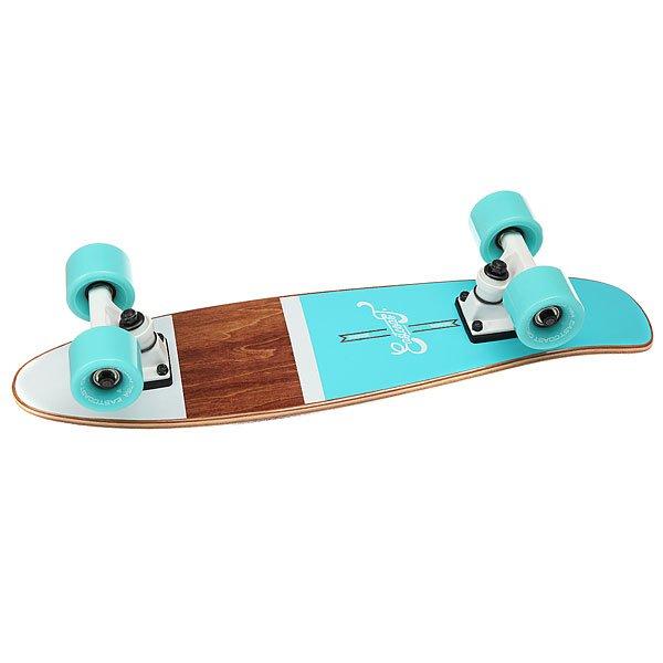 Скейт мини круизер Eastcoast Shelby Ocean 6.25 x 23 (58.4 см)Всеми любимая форма мини круизера из канадского клена. Стильный, легкий, маневренный и устойчивый. Ни что не сможет заменить настоящие ощущения деревянного скейтборда под ногами!Технические характеристики: Длина - 58,4 см, ширина - 16 см.7 слоев канадского клена.Плоский конкейв с киктейлом.Подвески Footwork.Колеса Eastcoast 59 мм 78 А.Подшипники Abec 7.Прозрачная шкурка.<br><br>Цвет: голубой,коричневый<br>Тип: Скейт мини круизер<br>Возраст: Взрослый<br>Пол: Мужской