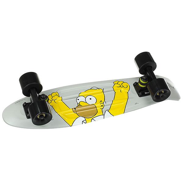 Скейт мини круизер Penny Simpsons 22 Ltd Homer 6 x 22 (55.9 см)Ликуй вместе с Гомером, погружаясь в море драйва, гоняя по улица Спрингфилда! Эксклюзивный лонгборд для любителей Симпсонов ждет тебя.Технические характеристики: Длина - 55,9 см, ширина - 15,3 см.Вес - 1,94 кг.Подвеска - Penny Custom 3, материал алюминий.Колёса - 59 мм жесткостью 78А, материал полиуретан.Подшипники - Penny Abec 7.Вес райдера до 110 кг.<br><br>Цвет: серый,мультиколор<br>Тип: Скейт мини круизер<br>Возраст: Взрослый<br>Пол: Мужской