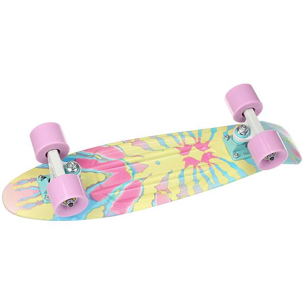 Скейт мини круизер Penny Original 22 Ltd Washed Up 6 x 22 (55.9 см)Нежно-голубая дека с рисунком в пастельных тонах и лиловые колеса, прочная алюминиевая подвеска и фирменные подшипники Penny — идеальное сочетание для девушек, решивших окунуться в мир скейтбординга.Технические характеристики: Длина - 55,9 см, ширина - 15,3 см.Вес - 1,94 кг.Подвеска - Penny Custom 3, материал алюминий.Колёса - 59 мм жесткостью 78А, материал полиуретан.Подшипники - Penny Abec 7.Вес райдера до 110 кг.<br><br>Цвет: мультиколор<br>Тип: Скейт мини круизер<br>Возраст: Взрослый<br>Пол: Мужской