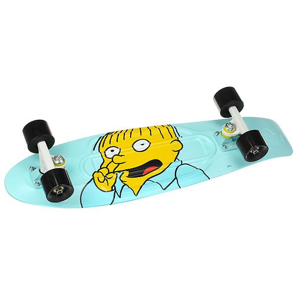 Скейт мини круизер Penny Simpsons 27 Ltd Ralph 7.5 x 27 (68.6 см)Ограниченный тираж коллекции Simpsons X Penny, созданной специально для поклонников легендарного мультсериала. Прогони тучи в самый пасмурный день вместе с Ральфом Виггамом!Технические характеристики: Длина - 68,6 см, ширина - 19 см.Вес - 2,48 кг.Подвеска - Penny Custom 4, материал алюминий.Колёса - 59 мм жесткостью 78А, материал полиуретан.Подшипники - Penny Abec 7.<br><br>Цвет: голубой<br>Тип: Скейт мини круизер<br>Возраст: Взрослый<br>Пол: Мужской