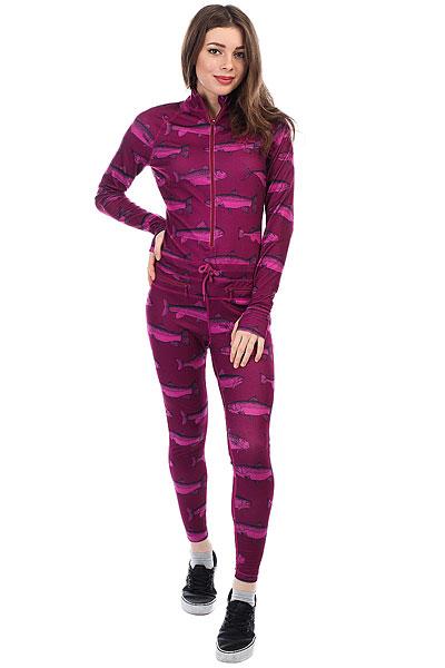 Термобелье (комбинезон) женское Airblaster Hoodless Ninja Suit Berry Fish недорого