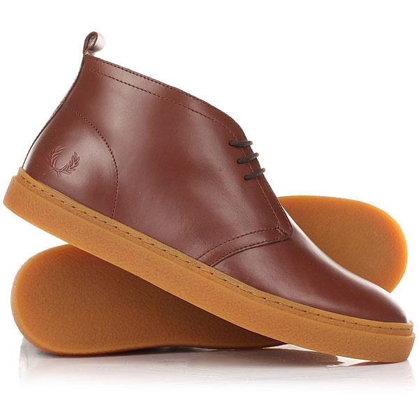 Кеды кроссовки высокие Fred Perry Hawley Mid Leather ChestnutВдохновленные классическими дезертами 60-х годов,  Fred Perry создал Hawley из прочной кожи, только с более легким дизайном.Технические характеристики: Гладкая кожа.Круглые шнурки.Резиновая подошва с эффектом креповой.Тисненый логотип.<br><br>Цвет: коричневый<br>Тип: Кеды высокие<br>Возраст: Взрослый<br>Пол: Мужской