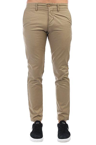 Штаны прямые Carhartt WIP Sid Pant Leather<br><br>Цвет: бежевый<br>Тип: Штаны прямые<br>Возраст: Взрослый<br>Пол: Мужской