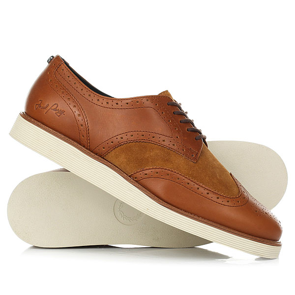 цена Ботинки низкие Fred Perry Newburgh Brogue Leather/Suede онлайн в 2017 году