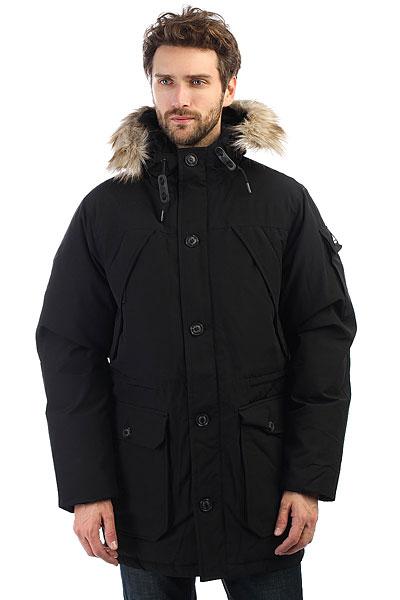 Куртка зимняя Penfield Hoosac BlackТеплая куртка с пуховым утеплителем дополненная шикарной меховой отделкой на капюшоне. Универсальная куртка для города и активного отдыха.Технические характеристики: Водоустойчивый и ветрозащитный материал 80/20 из хлопка и полиэстера.Пуховый утеплитель 550 fill power premium 80/20.Съемная отделка капюшона из искусственного меха.Полностью регулируемый капюшон.Нагрудные карманы, карман на рукаве, карманы для рук, потайной карман.Регулировка талии.Съемная снежная юбка.Застежка на молнию с ветрозащитным клапаном.<br><br>Цвет: черный<br>Тип: Куртка зимняя<br>Возраст: Взрослый<br>Пол: Мужской