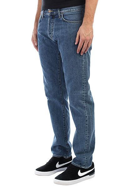 Джинсы прямые Carhartt WIP Oakland Pant Blue(Stone Washed) джинсы узкие dc washed slim jea pant light stone