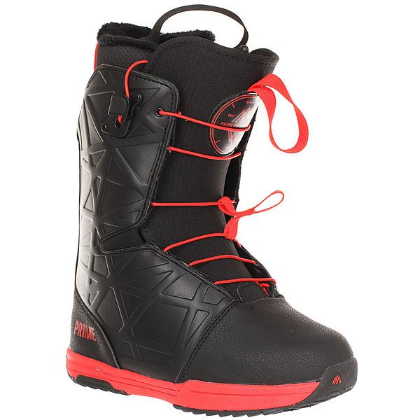 Ботинки для сноуборда Prime Daily BlueСноубордические ботинки с удобной и надежной шнуровкой, благодаря которой вам не придется тратить свое время, особенно, когда вы хотите скорее оказаться на склоне!Технические характеристики: Искусственная кожа и водонепроницаемая ткань.Быстрая шнуровка.3D язычок.Стелька Die cut EVA.Резиновая подошва.<br><br>Цвет: черный,красный<br>Тип: Ботинки для сноуборда<br>Возраст: Взрослый<br>Пол: Мужской