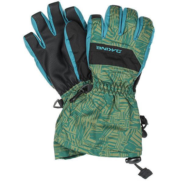 Перчатки сноубордические детские Dakine Yukon Glove Broken StripeДетскиеперчатки с удлиненными манжетами Dakine Yukon предотвращают попадание снега.Утеплитель High Loftв сочетании с водоотталкивающей пропиткой DWR гарантируютсохранить руки в тепле и сухости в любых погодных условиях.Характеристики:Эластичные манжеты удлинённого кроя.Ладонь из нейлона с нанесением водоотталкивающей пропитки. Утеплитель из синтетического материала High Loft [ 110/230г ]. Трикотажная подкладка 150г.Регулировка утяжкой на запястье.<br><br>Цвет: синий,зеленый<br>Тип: Перчатки сноубордические<br>Возраст: Детский