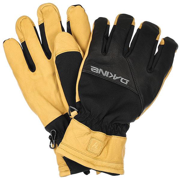 Перчатки сноубордические Dakine Navigator Glove Black/Tan перчатки сноубордические женские dakine charger glove buckskin