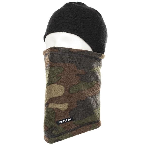 Шапка носок Dakine Fleece Neck Tube Camo<br><br>Цвет: черный,зеленый,коричневый<br>Тип: Шапка носок<br>Возраст: Взрослый<br>Пол: Мужской