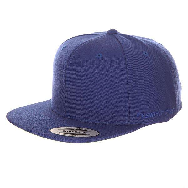 Бейсболка с прямым козырьком Flexfit 6089m Royal<br><br>Цвет: синий<br>Тип: Бейсболка с прямым козырьком<br>Возраст: Взрослый