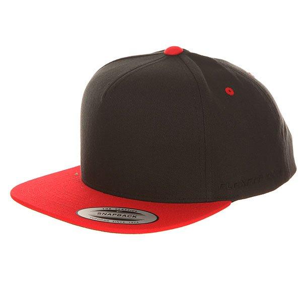 Бейсболка с прямым козырьком Flexfit 6007T Red/Black<br><br>Цвет: черный,красный<br>Тип: Бейсболка с прямым козырьком<br>Возраст: Взрослый