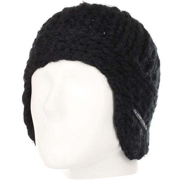 Шапка ушанка женская Dakine Veruca Black<br><br>Цвет: черный<br>Тип: Шапка ушанка<br>Возраст: Взрослый<br>Пол: Женский