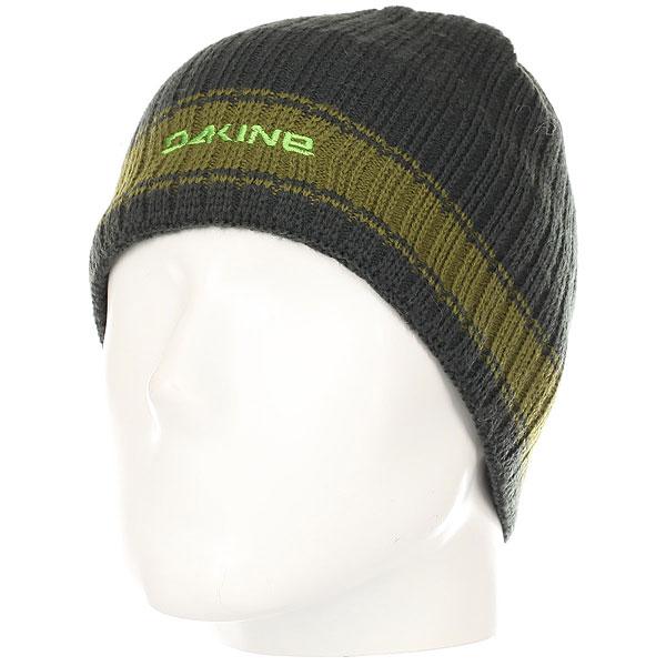 Шапка Dakine Ribbed Pinline Green<br><br>Цвет: Темно-серый,зеленый<br>Тип: Шапка<br>Возраст: Взрослый<br>Пол: Мужской