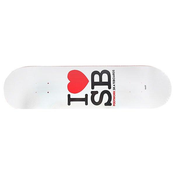 Дека для скейтборда для скейтборда Footwork Original I Love Sb White 31.4 x 8.125 (20.6 см) дека для скейтборда для скейтборда footwork progress artist series globe 31 875 x 8 125 20 6 см