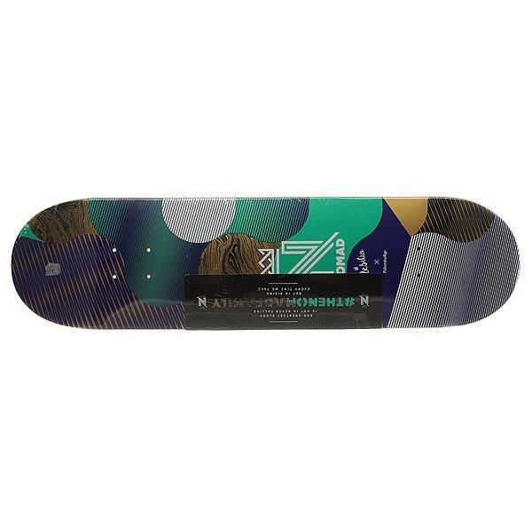 Дека для скейтборда для скейтборда Nomad Resilio Blue Deck Multicolor 32.375 x 8.375 (21.3 см)Ширина деки: 8.375 (21.3 см)    Длина деки: 32.375 (82.2 см)    Количество слоев: 7Уникальная дека из клена со стильным принтом – подчеркни свой стиль и индивидуальность.Характеристики:Дизайн: Palomita Day. 7-ми слойная конструкция из канадского клена.Конкейв: средний. Шкурка в комплекте.<br><br>Цвет: мультиколор<br>Тип: Дека для скейтборда<br>Возраст: Взрослый<br>Пол: Мужской