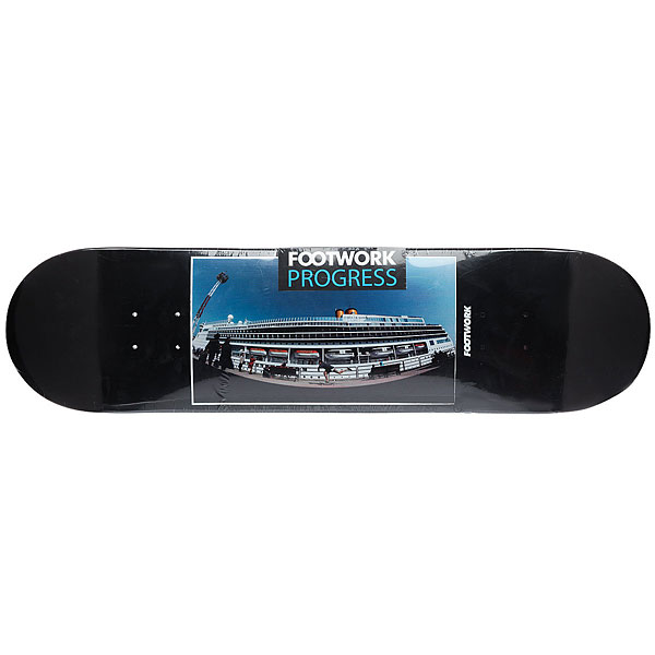 Дека для скейтборда для скейтборда Footwork Progress Vladivostok Black 32.5 x 8.25 (21 см)